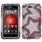 Insten® Diamante Protector Cover For Motorola XT894 Droid 4, Twin Stars