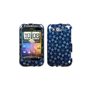 Insten® Protector Case For HTC WildFire S GSM/WildFire S CDMA, Blue/2D Silver Twinkle Stars/Sparkle