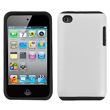 Insten Fusion Rubberized Faceplate Case For iPod Touch 4th Gen, White (1020043)