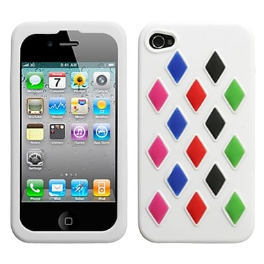 Insten® Skin Cover F/iPhone 4/4S, White Module
