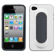 Insten® Protector Cover W/Snap Tail Stand F/iPhone 4/4S, White