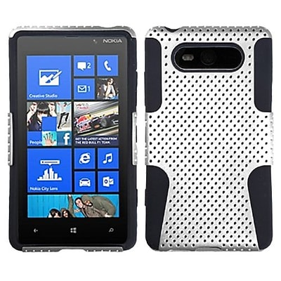 Insten® Astronoot Phone Protector Cover For Nokia Lumia 820; White/Black