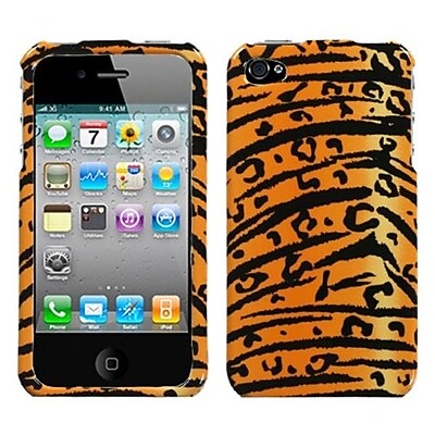 Insten® Phone Protector Cover F/iPhone 4/4S; Wild Tiger