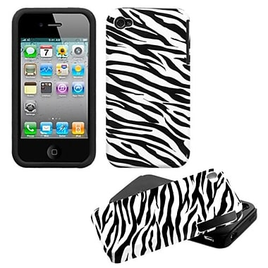 Insten® Fusion Protector Cover F/iPhone 4/4S, Zebra Skin