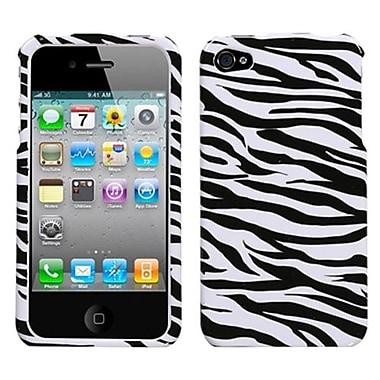Insten® Phone Protector Cover F/iPhone 4/4S, Zebra