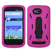 Insten® Hybrid Stand Protector Cover For Coolpad Quattro 4G, Black/Hot-Pink