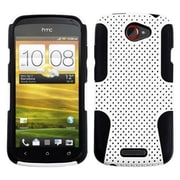 Insten® Snap-In Faceplate Case For HTC-One S; Black/White