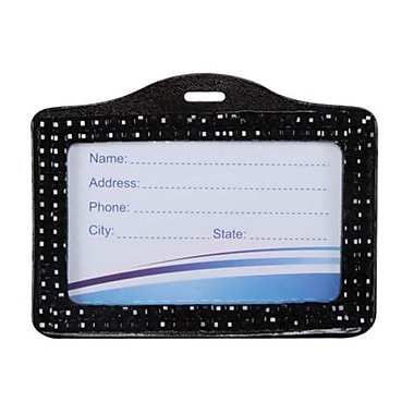 Insten® Horizontal Business Card Holder, Black