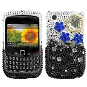 Insten® Diamante Phone Protector Cover For BlackBerry 8520/8530, Cloudy Night