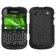 Insten Diamante Faceplate Case For RIM BlackBerry 9900/9930, Black by