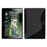Insten® TPU Skin Cover For BlackBerry Playbook, Black S-Shape