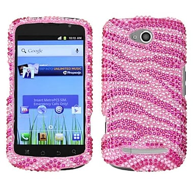 Insten® Snap-In Case For Coolpad 5860E Quattro 4G, Pink Zebra Rhinestones