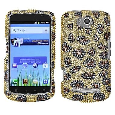 Insten® Diamante Protector Cover For Coolpad 5860E Quattro 4G, Leopard/Camel