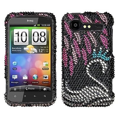 Insten® Diamante Protector Cover For HTC ADR6350 Droid Incredible 2; Swan