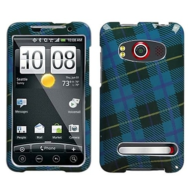 Insten® Protector Case For HTC EVO 4G, Blue Plaid Weave
