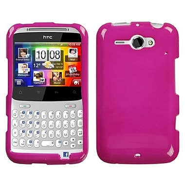 Insten® Protector Case For HTC Status/ChaCha, Solid Hot-Pink
