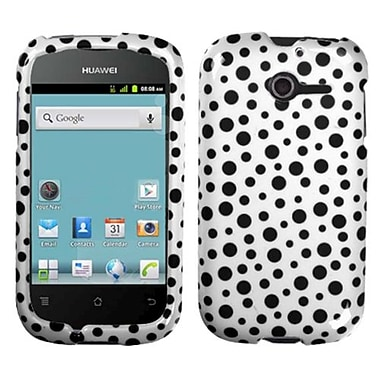 Insten® Phone Case For Huawei M866 Ascend Y, Black Polka Dots Image