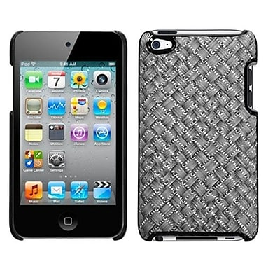 Insten® Executive Back Protector Cover For iPod Touch 4th Gen, Silver Grey Plaid