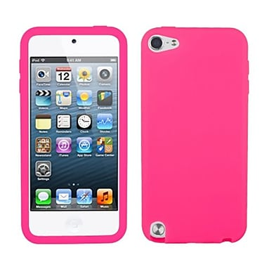 Insten Solid Skin Cover For iPod Touch 5th Gen, Electric Pink (1032415)