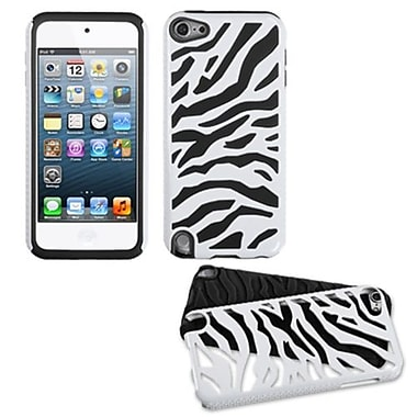 Insten Fusion Dual Layer Hybrid Protector Cover For iPod Touch 5th Gen, White Zebra/Black (1032459)