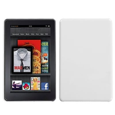 Insten® Back Protector Cover For Kindle Fire; Natural Ivory White (1032499)