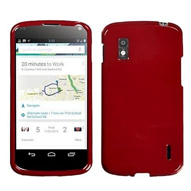 Insten® Protector Case For Google Nexus 4, Dark Red
