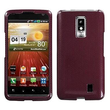 Insten® Faceplate Case For LG VS920 Spectrum, Red Carbon Fiber