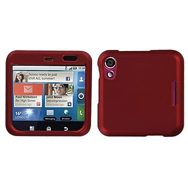 Insten® Protector Case For Motorola MB511 Flipout, Titanium Solid Red