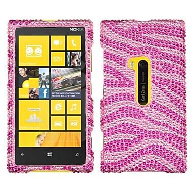 Insten Diamante Protector Cover For Nokia Lumia 920, Pink/Hot Pink Zebra Skin (1033774)
