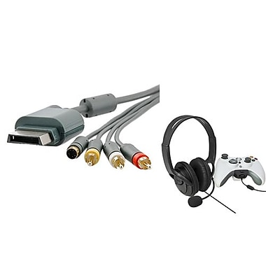 Insten® 1034341 2-Piece Game Cable Bundle For Microsoft Xbox 360