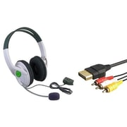 Insten® 1034363 2-Piece Game Cable Bundle For Microsoft Xbox 360