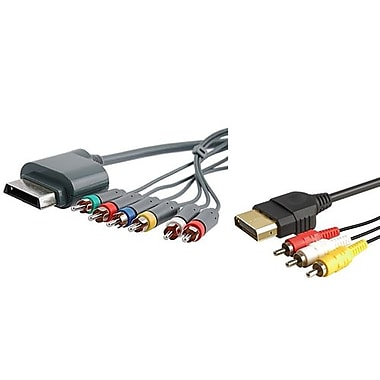Insten® 1034372 2-Piece Game Cable Bundle For Microsoft Xbox 360 Slim Controller