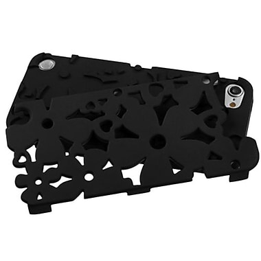 Insten® Flower Shape Fishbone Protector Cover For iPod Touch 5th Gen, Eration Black Flower