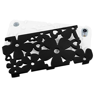 Insten® Flower Shape Fishbone Protector Cover For iPod Touch 5th Gen, Black/Solid White
