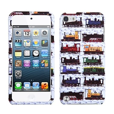 Insten® Phone Protector Case For iPod Touch 5th Gen, Retro Trains/White