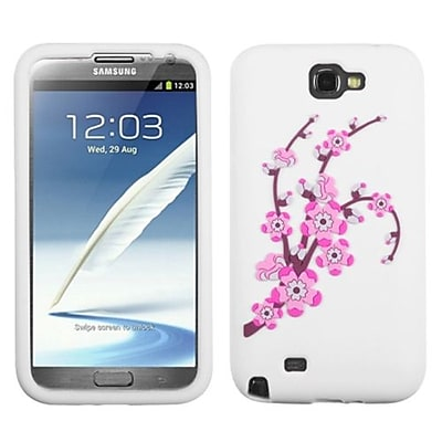 Insten® Pastel Skin Cover For Samsung Galaxy Note II (T889/I605), Spring Flowers/White
