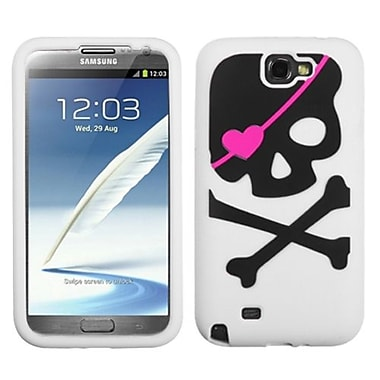 Insten® Pastel Skin Case For Samsung Galaxy Note II (T889/I605), Big Skull/White