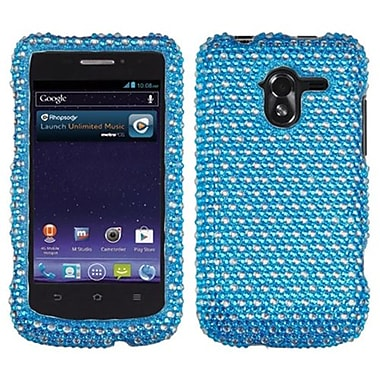 Insten® Diamante Protector Case For ZTE-N9120 Avid 4G, Blue/White Dots