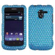 Insten® Diamante Protector Case For ZTE-N9120 Avid 4G; Blue/White Dots