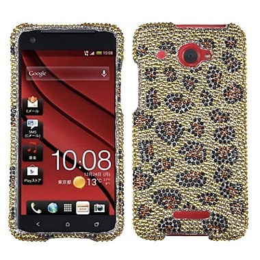 Insten® Diamante Protector Case For HTC Droid DNA, Leopard/Camel