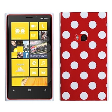 Insten Candy Skin Cover For Nokia Lumia 920, Red Mixed Polka Dots (1039269)