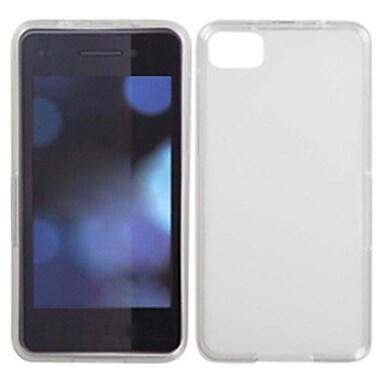Insten Rubberized Candy Skin Cover For BlackBerry Z10, Semi Transparent White (1039921)