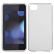 Insten Rubberized Candy Skin Cover For RIM BlackBerry Z10, Semi Transparent White by