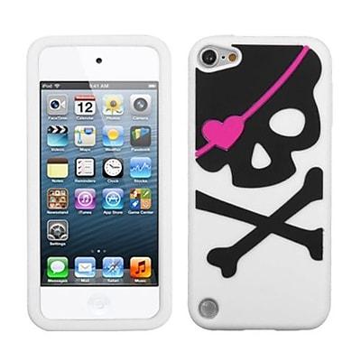 Insten® Skin Cover For iPod Touch 5th Gen, White Big Skull Pastel