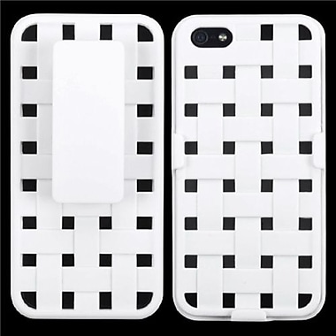 Insten® Hybrid Rubberized Weave Texture Holsters F/iPhone 5/5S