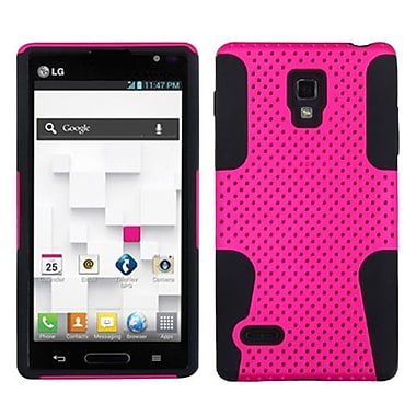 Insten Protector Case For LG P769 Optimus L9, Hot Pink/Black Astronoot (1051987)