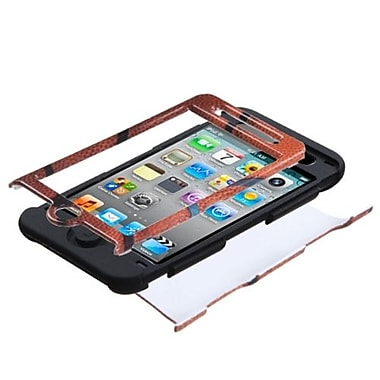 Insten® TUFF Hybrid Phone Protector Case For iPod Touch 4th Gen, Black Basketball