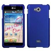 Insten® Protector Case For LG MS870 Spirit 4G, Titanium Solid Dark Blue