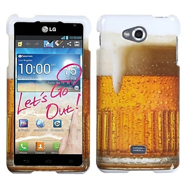 Insten® Protector Case For LG MS870 Spirit 4G, Beer