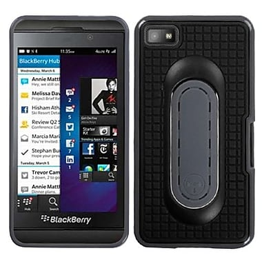 Insten Stand Protector Cover For BlackBerry Z10, Black Snap Tail (1058501)
